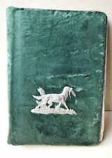 Antique Stylish Retro Hunter's Photo Album With Molten Figure Of Hunting Dog