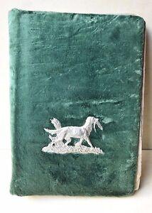 Antique Stylish Retro Hunter's Photo Album With Molten Figure Of Hunting Dog