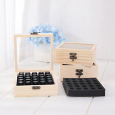 25 Slots Wooden Essential Oil Storage Box Aromatherapy Container OrganizerB.KE