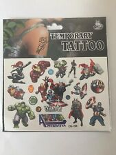 The Avengers Temporary Tattoo Sheet Children Kids Birthday Party Bag Filler