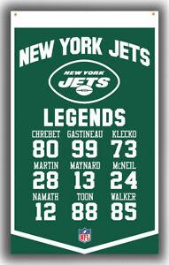 New York Jets Football LEGENDS Fan Memorable Flag 90x150cm 3x5ft Best banner
