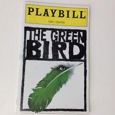 Playbill The Green Bird 2000 Cort Theatre Theater Book