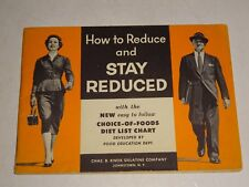 1950's Chas. B. Knox Gelatin Recipe Book: How to Reduce and Stay Reduced Booklet
