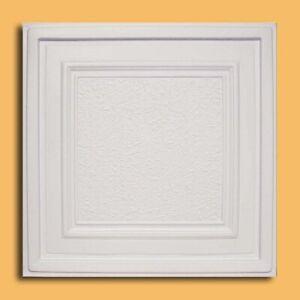 """Grid System, Pop In, 24"""" x 24"""", 3D, PVC, Ceiling Tiles, ZETA White"""