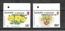 Ascension 1982 Commonwealth Games Sg326-327MNH/UMM