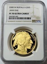 2008 W GOLD UNITED STATES $50 BUFFALO 1 OZ COIN NGC PROOF 70 ULTRA CAMEO