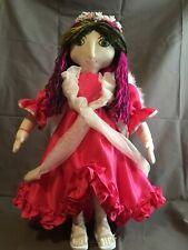 """Cloth Rag Doll Handmade 21"""" All American Girl Angel Doll"""