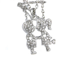 Le Donne & Uomini LOVER'S KISSING Crystal High Quality Fashion Collana Ciondolo per