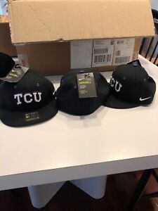 Team Issued Texas Christian TCU Horned Frogs Baseball Hat New Throwback 6 7/8