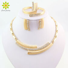 Fashion Wedding Gift Necklace Earring Bracelet African Jewelry Sets For Women