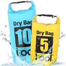 kool® DryBag / Seesack 2er SET 5L + 10L mit Trageriemen für Outdoor Aktivitäten