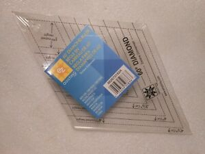 EZ Quilting 60 Degree Diamond Ruler Template New in Package