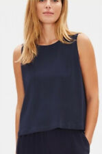 Eileen Fisher Silk Georgette Crepe Round Neck Shell Tank Size 2x