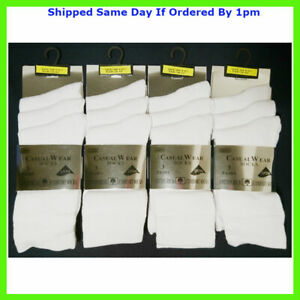 3 NEW PAIRS GIRLS PLAIN WHITE COLOUR EVERYDAY SOCKS SIZE 4-7 SMART CASUAL