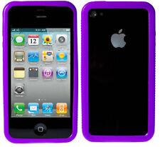 Silikon Bumper Apple iPhone 4 4S Hülle Schutzhülle Case Tasche Etui Lila