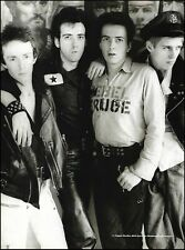 The Clash Joe Strummer Mick Jones Paul Simonon Tropper Headon pin-up photo