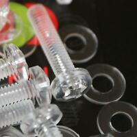 20 x Acrilico Bulloni e Dadi M4 x 20mm in Plastica Trasparente - Acrilico Viti
