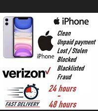 VERIZON USA All Iphone Premium Unlock Service Blacklist,Blocked,unpaid, finance✅