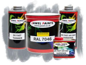 2K Acrylic - AUDI NARDO GREY - Gloss - 5 Litre Kit - Car Paint
