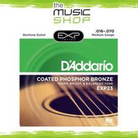 D'Addario EXP23 Coated Phosphor Bronze Baritone Acoustic Guitar Strings - 16-70
