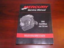 Mercury Service Manual 200 OptiMax Jet Drive 90-8M0050731
