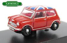 BNIB N GAUGE OXFORD DIECAST 1:148 NMN001 TARTAN RED UNION JACK AUSTIN MINI