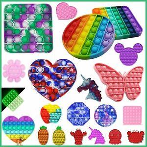 New Finger Push Pop Fidget Kids Toy Bubble Special Needs Silent Sensory Autism