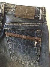 Diesel Industry Larkee-Zip Regular Straight Washed Blue Jeans W27 L32 Men's NWT