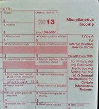 2013 10=1099-MISC Miscellaneous Income IRS Tax FORMS & 3=1096 Transmittal Forms
