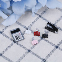 1 Set 1:12 Mini Dollhouse Caculator & Clamp & Stapler  Studying Funiture De FETR