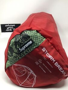 Supreme The North Face TNF Snakeskin Green Stormbreak 3 Taped Seam Tent Box Logo