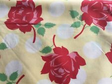 Urban Chicks Swell Moda 100% Cotton Fabric Floral on Yellow Background