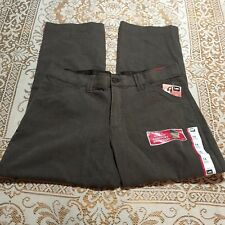 Lee Womens Petite Size 14 Pants Casual Comfort Fit Straight Leg Brown