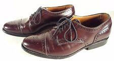 Allen Edmonds Sanford Burgundy Leather Cap Toe Shoes Sz 7 D