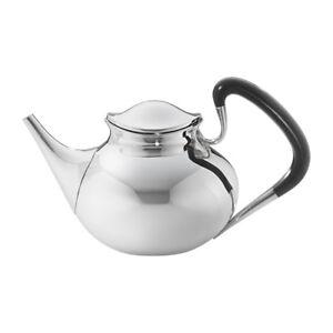 Georg Jensen Silver Teapot w/ Ebony Handle - #1051
