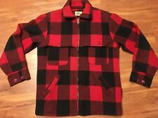 WOOLRICH Buffalo Red Plaid WOOL JACKET Hunting Coat Mens SIZE 38