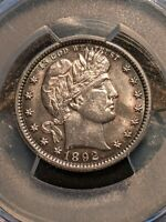 1892 BARBER QUARTER PCGS Ch-Gem Uncirculated, Rare 1st year of issue Gem