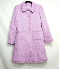 Marvin Richards button up peacoat pink size 4P wool blend Flaw on lining