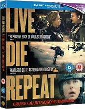 LIVE DIE REPEAT - EDGE OF TOMORROW - BLU RAY - NEW / SEALED - UK STOCK