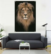 Lion Picture Tapestry Wall Hanging Bedspread Throw Cover Blanket Mat Home Decor