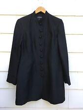BNWT J. Peterman Black Silk Victorian Button Blazer Jacket Womens 8 Steampunk