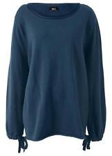 Womans Lightweight Wide Collar Dark Blue Jumper Size 14/16