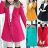 Womens Warm giacca pelliccia collare Casual Outwear Parka cappotto soprabito