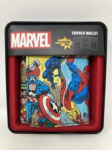 Marvel Men's Trifold Wallet Spiderman, Iron Man, Hulk & Capt America. Cover Gone