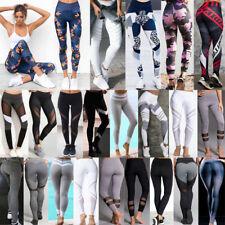 Damen Sporthose Leggings Tights Laufhose Fitnesshose Stretch Gym Jogging Hose FS