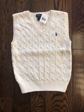 Boys Polo Ralph Lauren Size 6 Sweater Vest Cream/White
