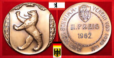 SCHWIMMEN MEDAILLE DSV BSV BERLIN BERLINER SCHWIMMVEREIN 1878 e.V. * III. - 1962