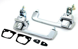 NEW LatchWell Chrome Outside Door Handle Set / FOR 1972-1993 DODGE RAM TRUCK ETC