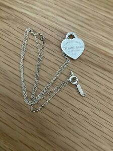 Genuine Tiffany & Co Return Small Heart Sterling Silver Necklace