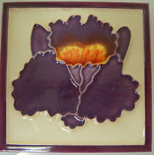 NEW Glazed Ceramic Decorative Tile 4 x 4 Purple Iris/Orchid (Rd282)
